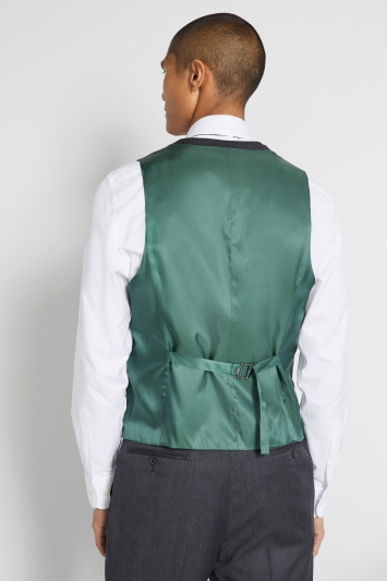 Savoy Taylors Guild Regular Fit Charcoal Twill Waistcoat