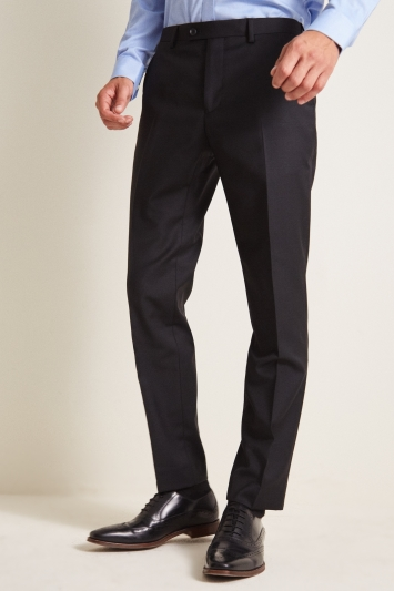 Ted Baker Tailored Fit Black Twill Trousers