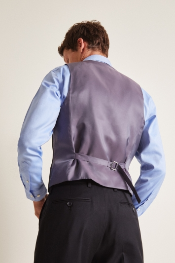 Ted Baker Tailored Fit Black Twill Waistcoat