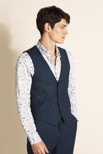 Tailored Fit Navy Semi Plain Jacket