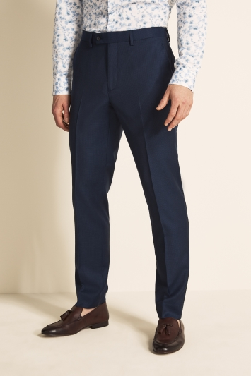 Ted Baker Gold Tailored Fit Navy Semi Plain Trousers