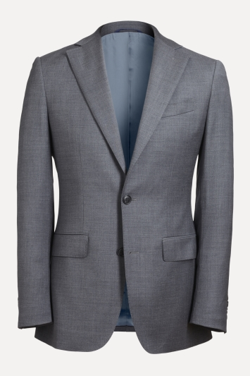 Moss 1851 Tailored Fit Grey Twill Jacket