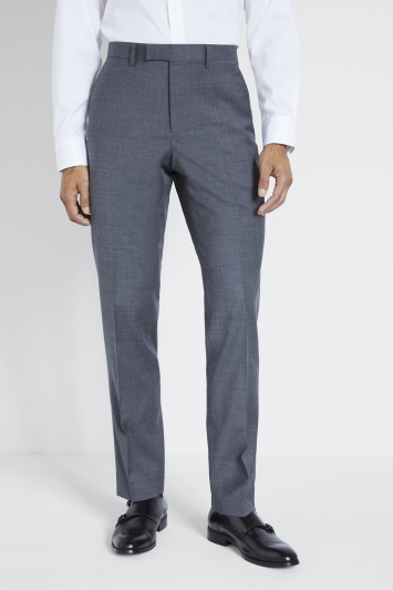 Moss 1851 Tailored Fit Grey Twill Trousers