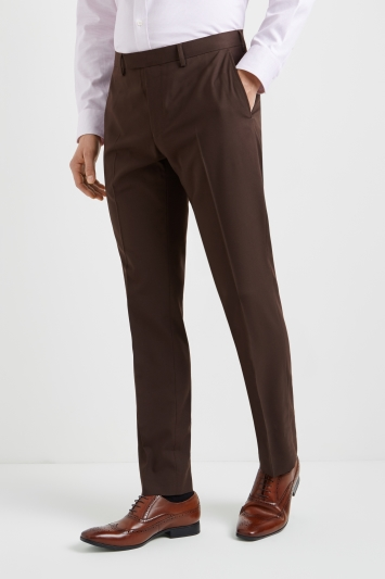 Moss 1851 Tailored Fit Chocolate Brown Trousers