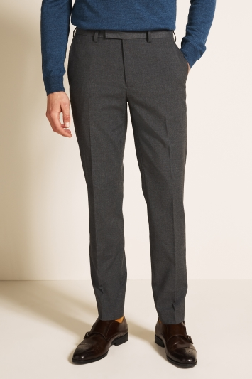Moss 1851 Tailored Fit Mid Grey Trousers
