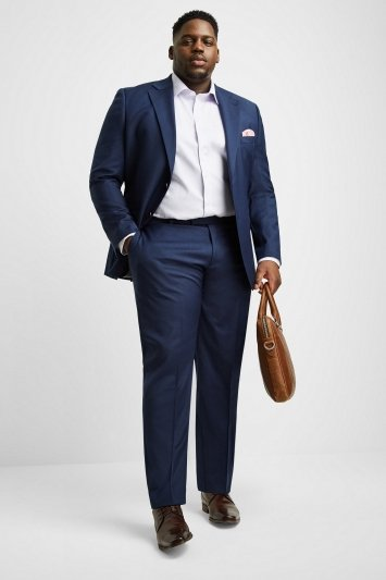 Moss 1851 Tailored Fit Navy Twill Jacket