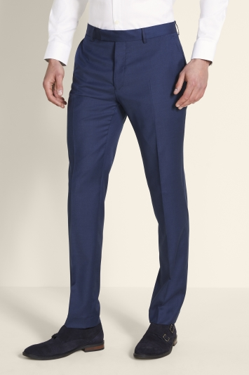 Moss 1851 Tailored Fit Navy Twill Trousers