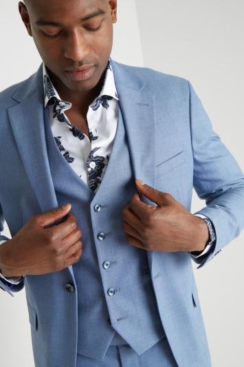 Moss London Slim Fit Chambray Lightweight Jacket