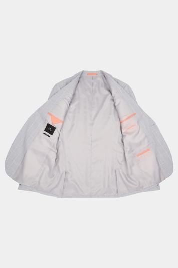 Slim Fit Grey Clementine Check Jacket