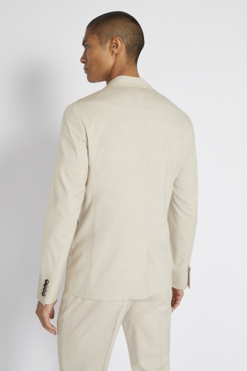 Moss London Slim Fit Latte Double Breasted Lightweight Jacket