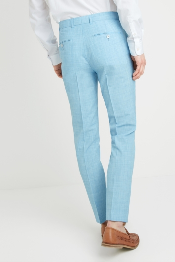 French Connection Slim Fit Light Blue Trousers