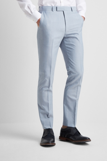 French Connection Powder Blue Marl Slim Fit Trousers