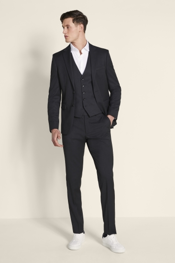 Moss London Slim Fit Charcoal Stretch Jacket