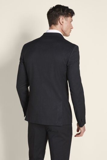 Moss London Slim Fit Charcoal Stretch Jacket