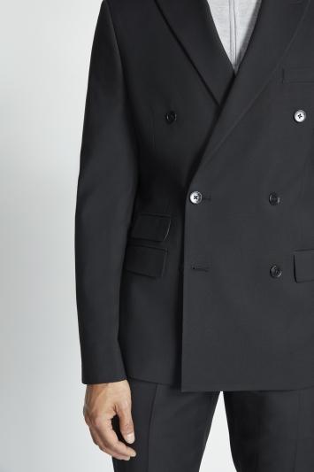 Slim Fit Black Stretch Jacket