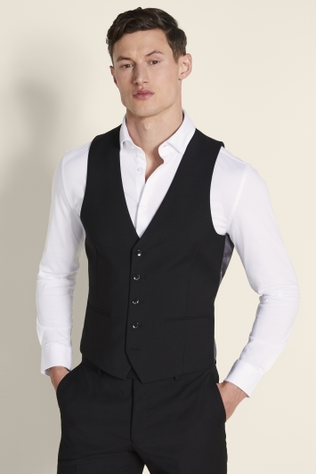 Moss London Slim Fit Black Stretch Jacket