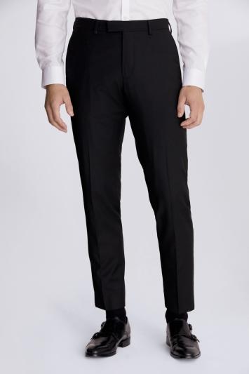Moss London Slim Fit Black Stretch Trousers