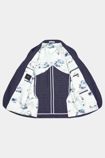 Moss London Skinny Fit Midnight Ink Knit Jacket