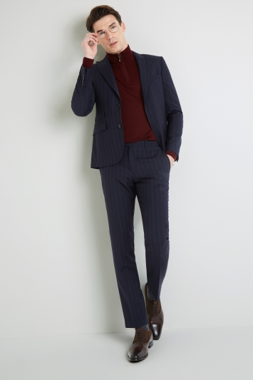 DKNY Slim Fit Navy Stripe Jacket