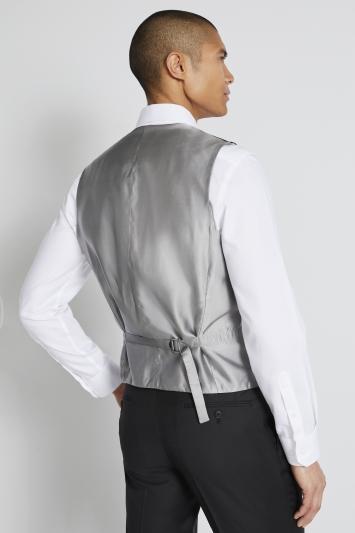 Lanificio F.lli Cerruti Dal 1881 Tailored Fit Black Twill Waistcoat