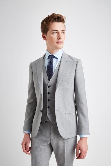 DKNY Slim Fit Light Grey Texture Jacket