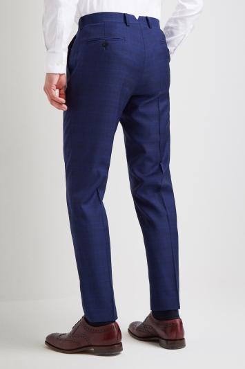Lanificio F.lli Cerruti Dal 1881 Tailored Fit Tonal Blue Check Trousers