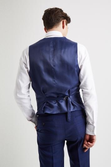Lanificio F.lli Cerruti Dal 1881 Tailored Fit Tonal Blue Check Waistcoat