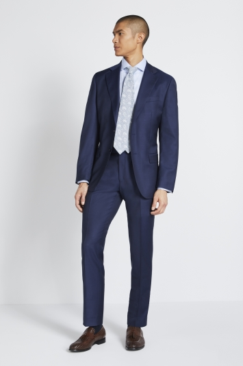 Lanificio F.lli Cerruti Dal 1881 Tailored Fit Navy Twill Jacket
