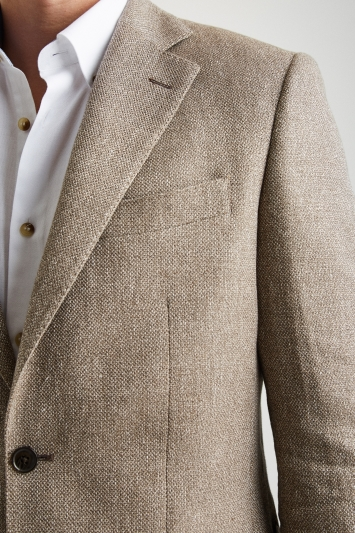 Moss 1851 Tailored Fit Light Brown Texture Jacket