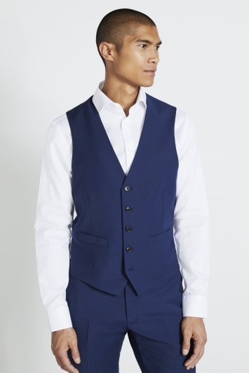 Moss 1851 Performance Tailored Fit Royal Blue Waistcoat