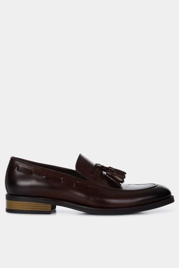 John White Nile Brown Tassel Loafer Shoe