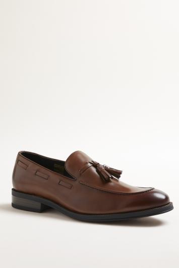 John White Nile Tan Tassel Loafer Shoe
