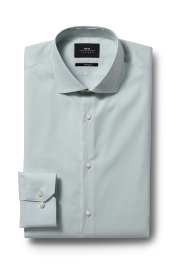 Moss London Skinny Fit Mint Green Single Cuff Stretch Shirt