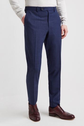 Ermenegildo Zegna Cloth Tailored Fit Navy Twist Check Trouser