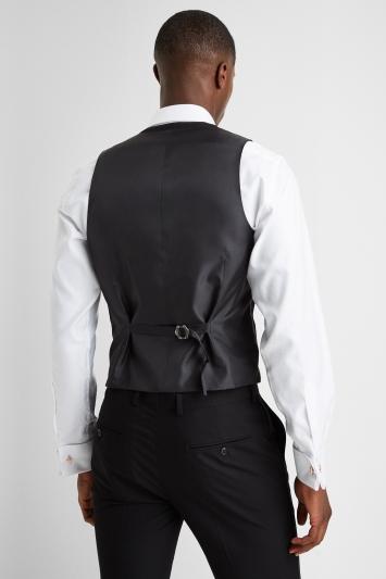 Slim Fit Black Dress Waistcoat