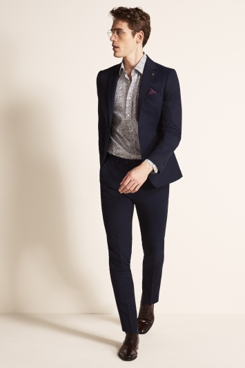 Ted Baker Slim Fit Navy Twill Jacket