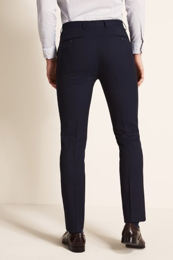 Ted Baker Slim Fit Navy Twill Trousers