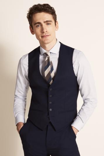 Ted Baker Slim Fit Navy Twill Waistcoat
