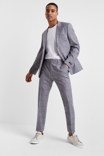Ted Baker Slim Fit Grey with Lilac