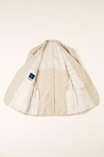 Moss 1851 Tailored Fit Stone Lightweight Linen Jacket