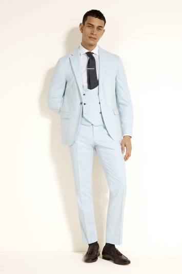 Slim Fit Sky Blue Jacket