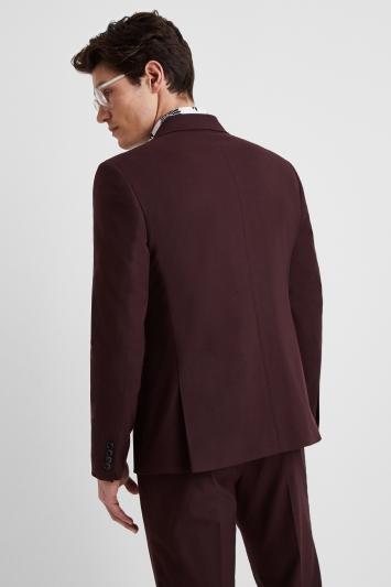Moss London Slim Fit Burgundy Jacket