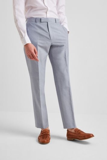 French Connection Powder Blue Marl Regular Fit Trousers