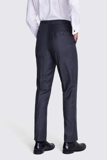 Moss Covent Garden Tailored Fit Grey Sharkskin Trousers