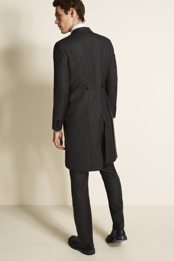 Moss Covent Garden Tailored Fit Grey Sharkskin Morning Coat