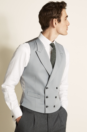 Tailored Fit Grey Waistcoat
