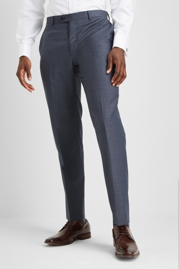 Ermenegildo Zegna Cloth Regular Fit Blue Semi Plain Trousers
