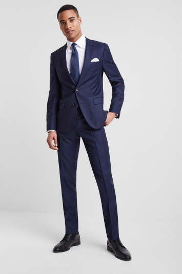 HUGO by Hugo Boss Navy Birdseye Notch Lapel Jacket