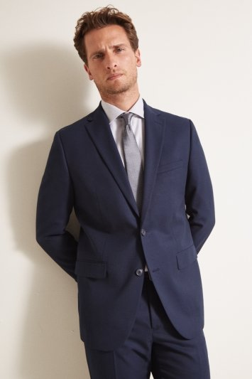 Moss 1851 Tailored Fit Blue Twill Jacket