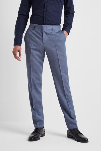 HUGO by Hugo Boss Light Blue Nailhead Trousers